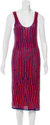 Proenza Schouler Leather Laced Dress Red Leather Laced Dress