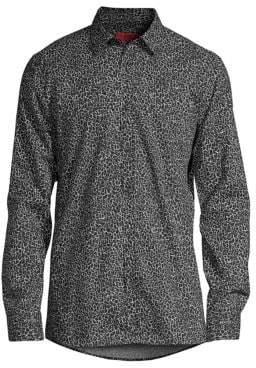 HUGO Elisha Slim-Fit Abstract Button-Down Shirt