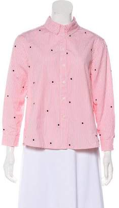 The Great Striped Button-Up Top