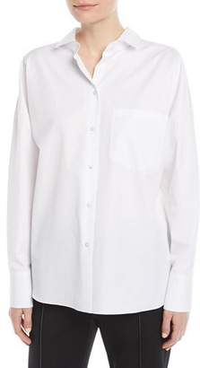 Valentino Cotton Poplin Blouse w/ VLTN Logo Back