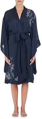 Carine Gilson Women's Lace-Inset Silk Kimono Robe