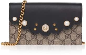 Gucci Peony GG Supreme Crossbody Bag