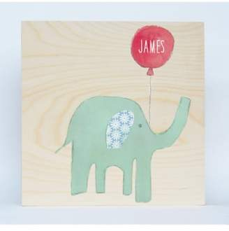 Someday Inc. 'Elephant' Personalized Birchwood Wall Art