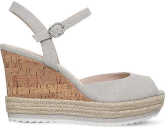 Nine West Debi peep-toe cork wedges