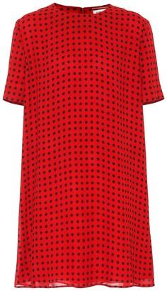 Saint Laurent Printed crepe minidress