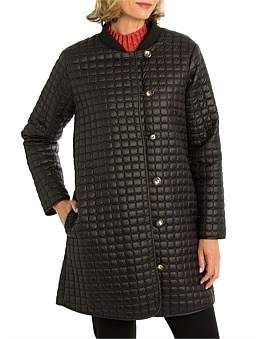 Yarra Trail Quilted Button Up Coat