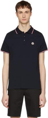 Moncler Navy Logo Polo