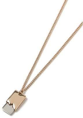 Topman Mens Grey Mixed Metal Dogtag Necklace*