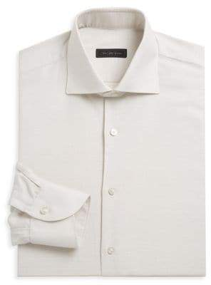 Saks Fifth Avenue COLLECTION Linen Blend Dress Shirt