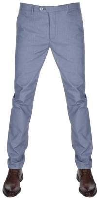 Ted Baker Hollden Slim Fit Chino Trousers Blue