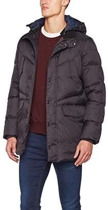 Sisley Men's Heavy Down Jacket (Black 100), (Size: 46)