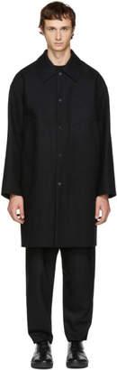 Undecorated Man Black Soutien Collar Coat