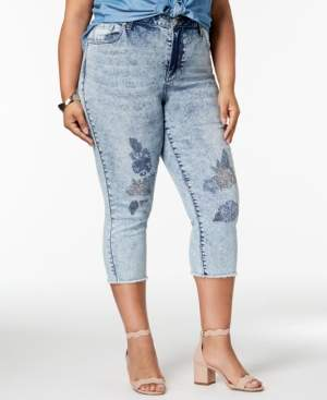 Seven7 Jeans Trendy Plus Size Embroidered Jeans