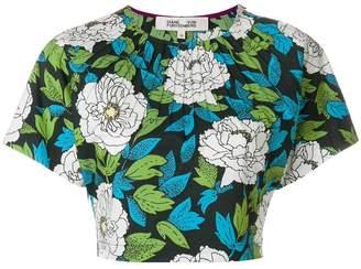 Diane von Furstenberg floral cropped top