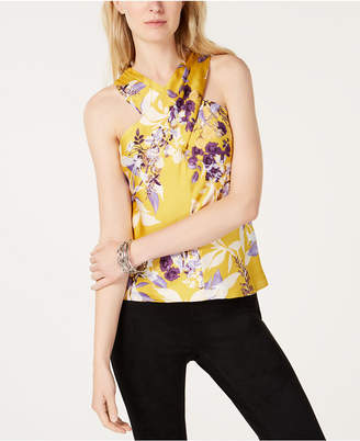 INC International Concepts I.n.c. Printed Floral Halter Top