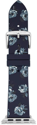 Kate Spade Women Blue Floral Silicone Apple Watch Strap