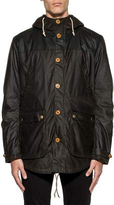 Barbour Green Game Waxed Cotton Hooded Jacket