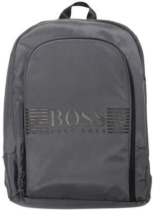 HUGO BOSS Logo Printed Nylon Canvas Backpack