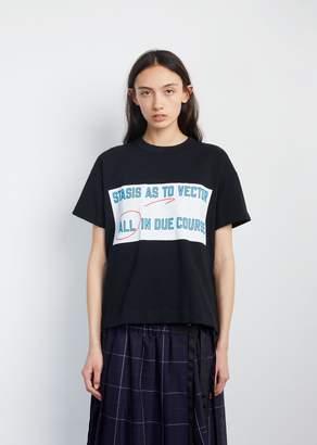 Sacai All In Printed Tee Black X Blue Logo
