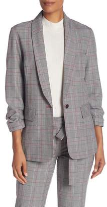 Laundry by Shelli Segal York Plaid Ruched Sleeve Jacket