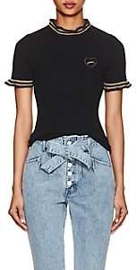 "Maison Labiche Women's ""Amour"" Cotton-Wool Short-Sleeve Sweater - Black"