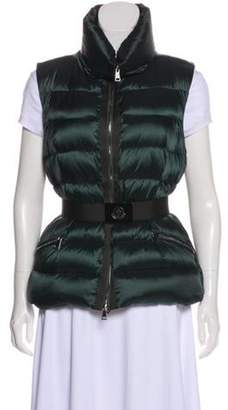 Moncler Quilted Down Vest w/ Tags silver Quilted Down Vest w/ Tags