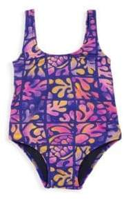Vilebrequin Little Girl's& Girl's Printed One-Piece Swimsuit