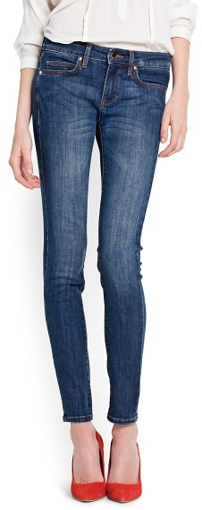 MANGO Super Slim-Fit Dark Wash Jeans