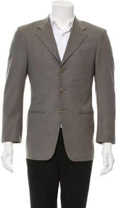 Armani Collezioni Wool Three-Button Blazer