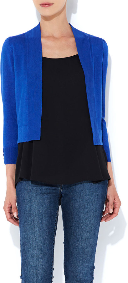 Wallis Cobalt Bow Back Shrug