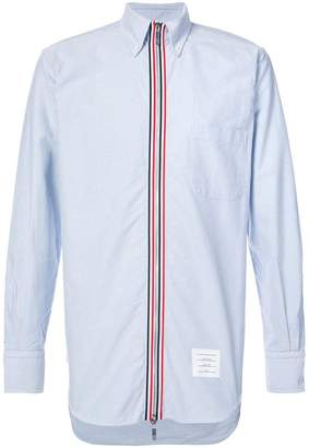 Thom Browne button down zip front shirt