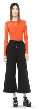 Alexander Wang Circular Hole Long Sleeve Top