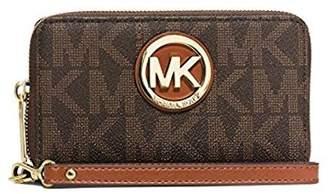 Michael Kors Fulton Gold Large Flat Phone Case PVC