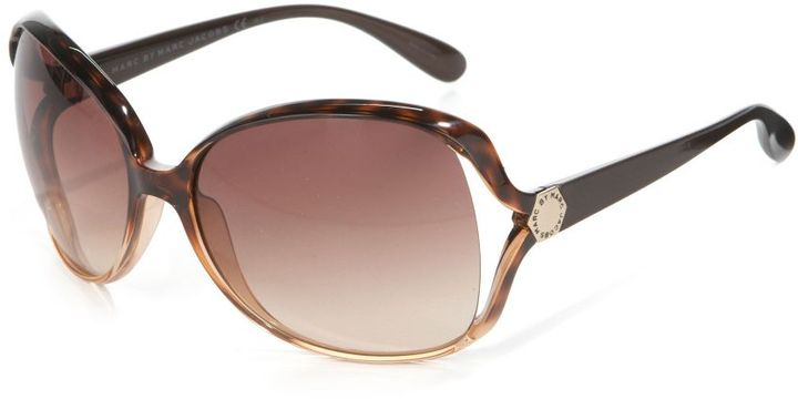 Marc by Marc Jacobs Oversized Wrap Plastic Sunglasses