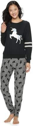 Plus Size Sleep Riot Graphic 3-piece Tee, Joggers & Scrunchie Pajama Set