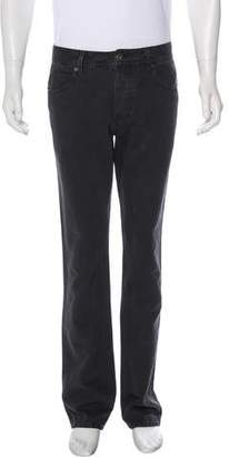 James Perse High-Rise Boot-Cut Pants