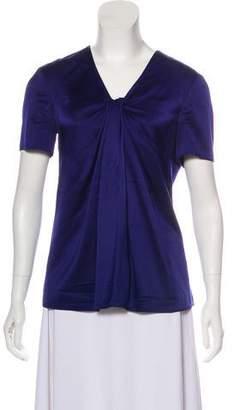 Burberry Silk Short Sleeve Top