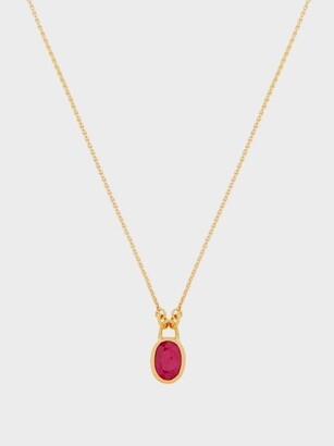 Eli Halili - Ruby & 22kt Gold Pendant Necklace - Womens - Gold