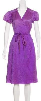 Calypso Silk Wrap Midi Dress