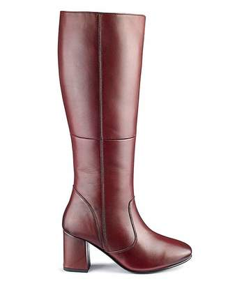 Heavenly Soles Leather Boots EEE Fit Super Curvy Calf