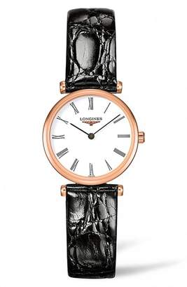 Longines La Grande Classique de Leather Strap Watch, 24mm