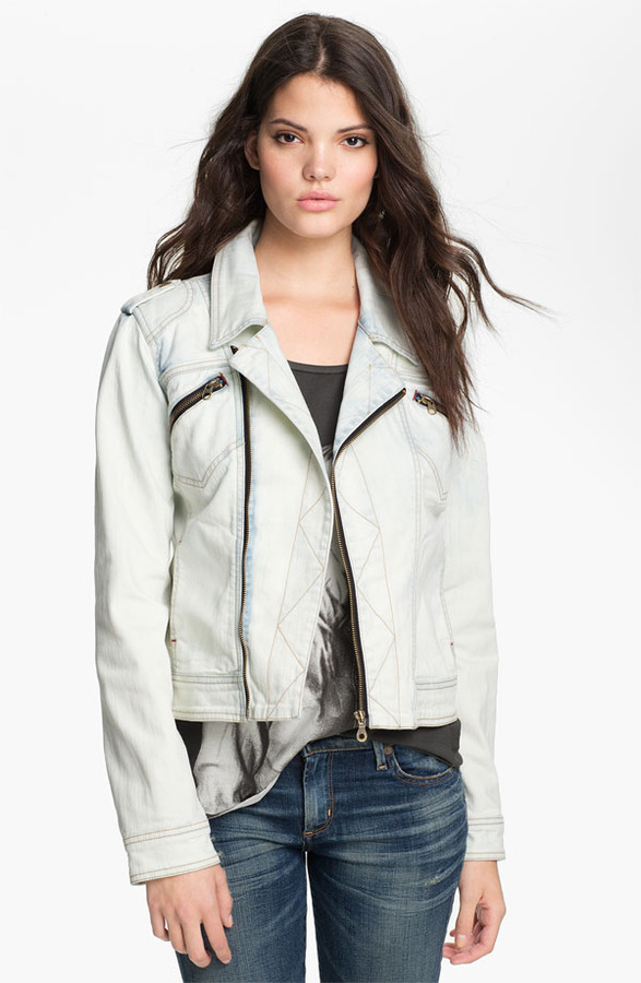Sanctuary 'Desert Rider' Denim Biker Jacket