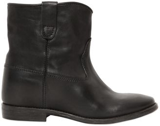 Etoile 70mm Cluster Black Leather Boots $830 thestylecure.com