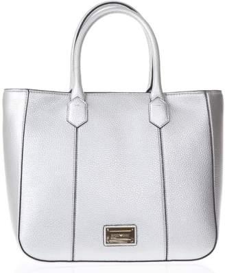 Emporio Armani Medium Steel Hand Bag In Eco Leather