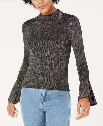 Lucy Paris Mallory Mock-Neck Bell-Sleeve Sweater