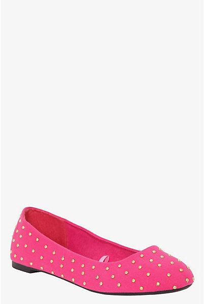 Torrid Pink Serena Studded Flats (Wide Width)