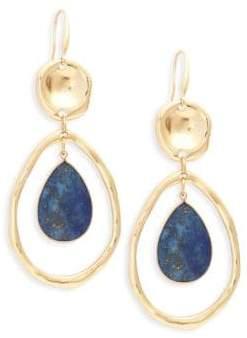 Ava & Aiden Goldtone Lapis Cutout Drop Earrings