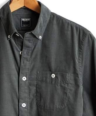 Todd Snyder Micro Corduroy Button-down Shirt in Sage