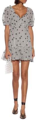 LoveShackFancy Catalina checked cotton minidress