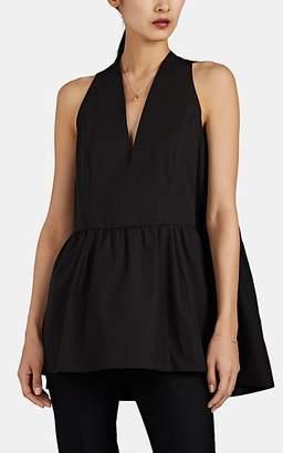 Narciso Rodriguez Women's Cotton Poplin Sleeveless Peplum Top - Black